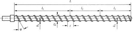 Схема зонной конструкции шнека